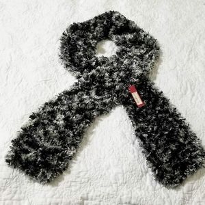 Merona Accessories - Merona 100% Polyester Black & Grey Scarf